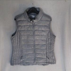 Packable Silver Down Vest